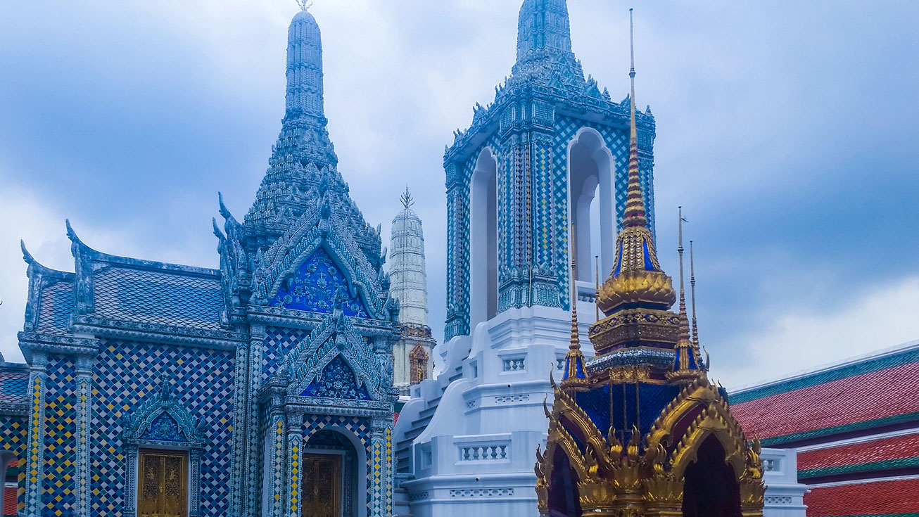The beautiful Grand Palace in Bangkok.