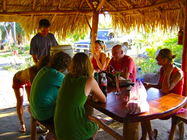 Part of the Nicaragua Crew, hanging at Little Morgans.